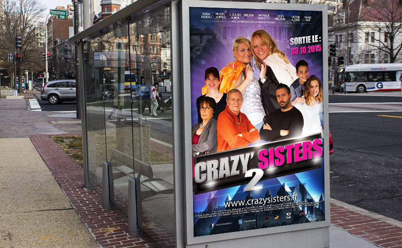 Affiche serie Crasy'Sisters