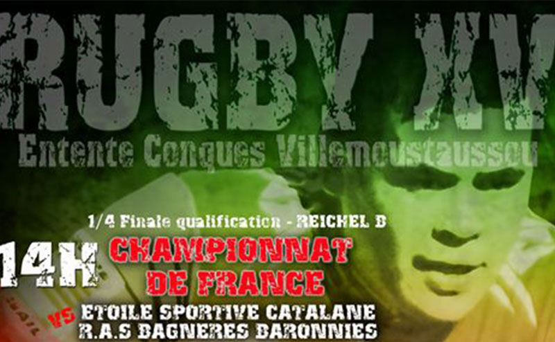 Affiche Rugby ECV XV